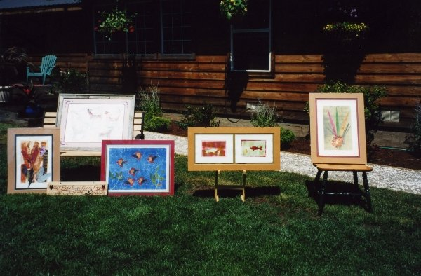 """10 Printmaking by Dianna for \""""Art in the Garden\"""" in 1997."""