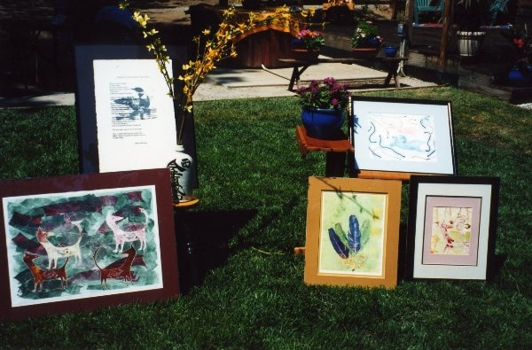 """09 Printmaking by Dianna for \""""Art in the Garden\"""" in 1997."""